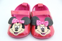Free shipping minnie mouse baby girl.Infant shoes. Prewalker.shoes summer for child 6pairs/lot girls fashion