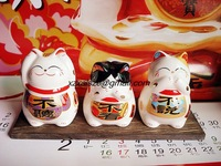 (3pcs/set) New 2014 Fresh Money Drawing Ornament Cute Ceramic Lucky Fortune Cats Money Box Piggy Bank,Lover's Craft Gifts