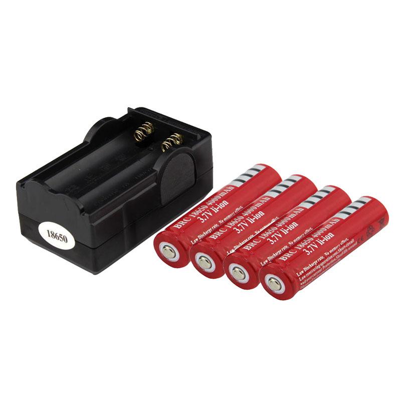 4000mAh carregador de parede 4pcs bateria Dual de bateria 18650 UltraFire 3.7 v bateria recarregável + Carregador de viagem dupla frete grátis