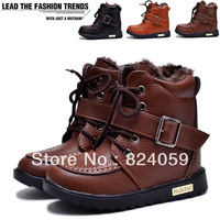 Free shipping cotton big  childen's cotton  martin  snow boots