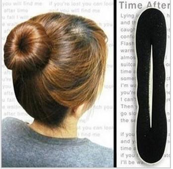 12pcs/lot 2014 hot head accessory bud head steamed stuffed bun maker head hair stick tape tool sponge hair maker A5032(China (Mainland))