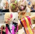 2014 hot HARAJUKU punk neon multicolour hair piece wig A5031(China (Mainland))