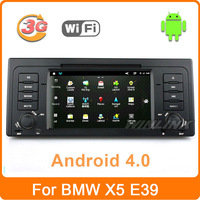 Free Shipping, 2013 Car DVD GPS For BMW E39 X5 M5 E53 With Android 4.0 3G WiFi Navigation Stereo Radio Bluetooth Phone IPOD TV