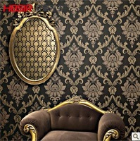 Waterproof wall paper a roll fashion brief quality gold non-woven wallpaper background wallpaper wall sticks for bed room
