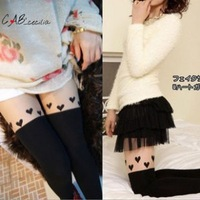 Free shipping (2 pieces/lot) Spring and summer hot-selling rompers stockings high jacquard legs socks of love basic pantyhose