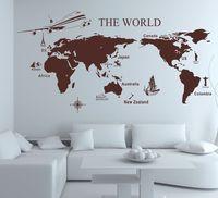 World Map Mural Modern Wall Sticker Large Sofa Decor Adesivo de Parede Home Decor Decoration
