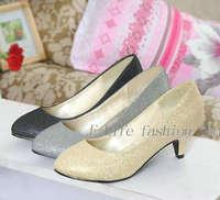 Pretty Rhinestone Wedding Thin Heels Pumps for Lady Round Toe High Heels Design Party Women Shoes 901-2