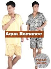 cotton Pajamas sleepwear bathrobe Sauna suits Khan steam suit massage suit clothing beauty services foot service suits(China (Mainland))
