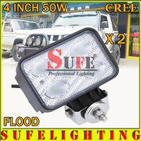 Free DHL Shipping New Arrival 4500LM 9-30V 50W Cree LED Driving Light tractor offroad LED work light 4x4 Flood Light 4WD