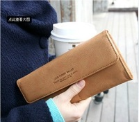 2014 new fashion brand Lady Wallet New Creative multifunctional  long  wallet card package solid cortex spring wholesale