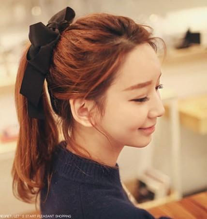 4pcs/lot 2014 hot double layer large bow headband tousheng bow tie hair accessory hair rope A5067(China (Mainland))