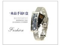 Free Shipping / Fashion crystal bracelet cute girls u disk U disk creative gifts personalized 8g u disk genuine special  U032