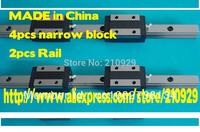 20mm Linear Rail guides bearings 2xL450mm + 4xHGH20CA