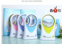Free shipping Novelty Gift !!! The mini a small NO Leaf fans, portable fans,Dual-purpose no leaf fan USB or battery