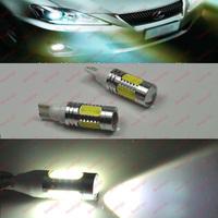 Free shipping 2pcs/lot T10 7.5W white 194 168 192 W5W super bright  led light bulb /t10 wedge led Reverse light