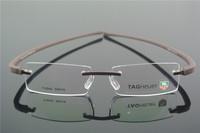 TR-90 Eyeglass Frames Men's & Women Coffee RIMLESS Glasses Optic Eyeglasses Prescription Frame T5042