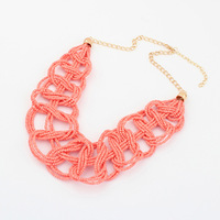 2014 fashion colorful seed beads women necklaces