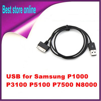 20 Pieces Free Shipping USB Charger Cable for Samsung Galaxy Tab 1/2 P1000 10.1 8.9 7.7 P5100 Black