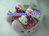 2013New style Big head Htllo kitty  Girls and boys slippers shoes size :C6-7-C12-13