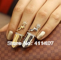 Fashion exquisite  finger flower  finger ring opening finger ring