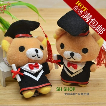 free shipping 20pcs San-x rilakkuma easily bear plush doll dressed baccalaureate gown,Graduation gift