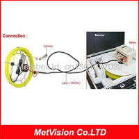 Professional industrial video pipe inspection camera, cctv drain/sewer inspection system 20m fiberglass cable with DVR