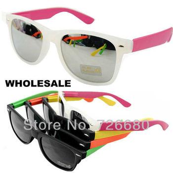 Free Shipping! Wholesale (12 pieces/lot)  Mix Colors 2013 Fashion New Unisex Matt Elastic Paint Frame UV400 Sunglasses 120-0800