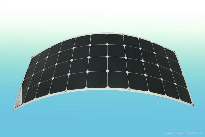 130w semi flexible solar panel for boat , bendable solar panel used on car,caravan,yacht(China (Mainland))