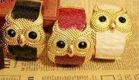 ZH0074 IVY Store fashion enamel alloy owl bracelets&bangles for women's
