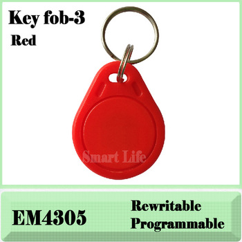 RFID key fobs 125KHz rewritable ABS key tags for access control