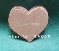 Wholesale 6.5*5.6cm DIY Kraft Paper tags Blank Heart Shape baking label wedding Gift Tags Retro Hang tags (No String) 300pc/lot