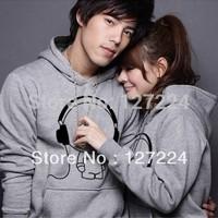 2012 winter women's plus size lovers sweatshirt winter outerwear lovers sweatshirt long-sleeve music