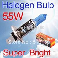 2pcs H1 Super Bright White Fog Halogen Bulb 55W Car Head Lamp Light H1 55W 12V car styling car light source  parking
