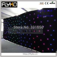 Free shipping 3x9m Alibaba expressing star cloth christmas decoration