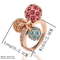 Wholesale Rose Gold Plated Ring Fashion Jewelry Ring Factory Prices Free Shipping 18KGP R014