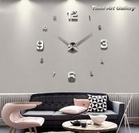 Home decoration!large digital mirror wall clock Modern design,big decorative sticker wall clocks.the wall hours,wall watches,F45