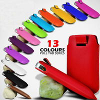 Colour PU Leather Fashion Pocket Bag For huawei ascend p2 case with Pull Out Function  (HK Free Shipping)