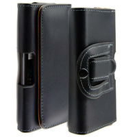 New black Waist hanged mobile phone holster pu Leather with Belt Clip Cover for huawei ascend p2 case, (Free Shipping)