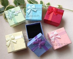 Free shipping Wholesale 96pcs/lot /ring box, ring case, jewelry rings paper boxes gift package box(China (Mainland))