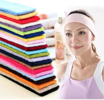 hot 2014 candy color towel hair bands hair accessory sports yoga hair band wigs multi-colored 5136