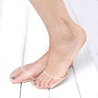 Open toe sock slippers fashion invisible socks non-slip pad foot pad lace insole half yard pad