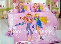 0527 winx club girl End of a single active 100% cotton child cartoon three piece set magic chic Baby bedding sets