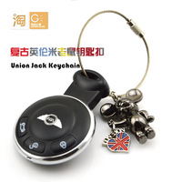 TOP: aluminum alloy key chain with TTS TTRS badge 1 pcs key ring + freeshipping