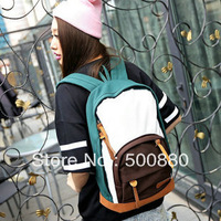 Free shipping Women's casual canvas backpack school bag shoulder Gym Knapsack Rucksack
