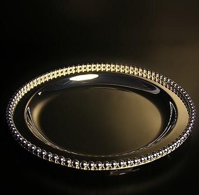 20pcs / lot tipo espessamento Senior prata gota banhado metal / bandeja de lanche / bolo pan / set bolo(China (Mainland))