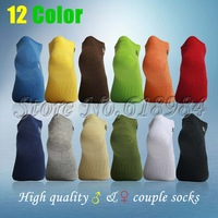 2013 Hot brightly colored cotton short socks colorful couple system Men's Socks, are suitable for men and women