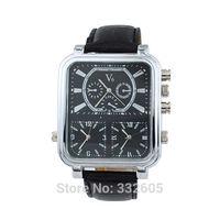Men's Brand V6 Speed Casual Watchesdes Men Square Black And Black Face Three MoveMent Quarta Watch Clock Male relogio masculino