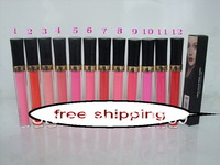 free shipping New makeup LIQUID LIPSTICK LIP GLOSS lipgloss(12 pcs/lot)