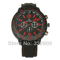 Fashion V6 Military Black Rubber Outdoor Sport Men Boy Women Camping Wrist Watch New 2014 Big Size Watches