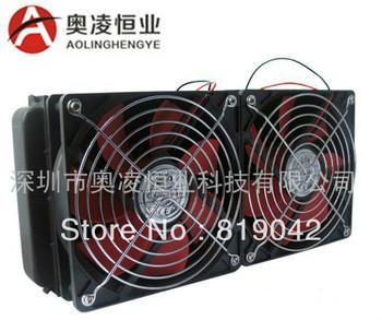 40 $ = forte ! ! 240 mm radiatore di raffreddamento ad acqua doppia fila con due ventilatori di scarico dell'acqua del computer acqua radiatore